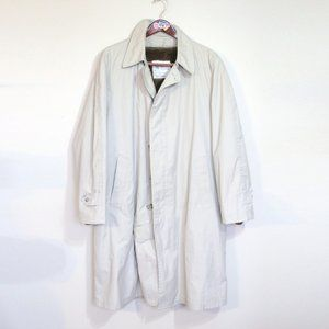 London Fog removable faux fur liner 3/4trench coat